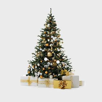 Рождественская елка с подарками в аренду