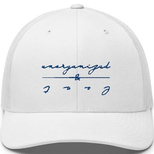 CURSIVE U&L FITTED TRUCKER HAT - WHITE