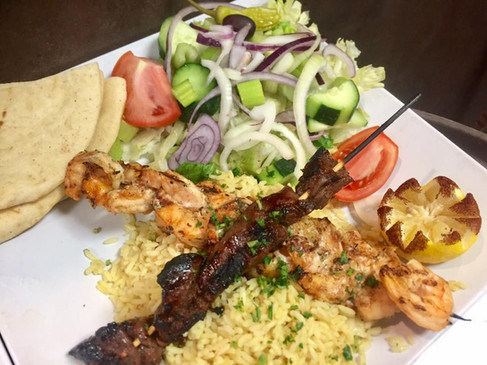 surf and turf brochette