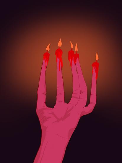 uhh candle fingers?