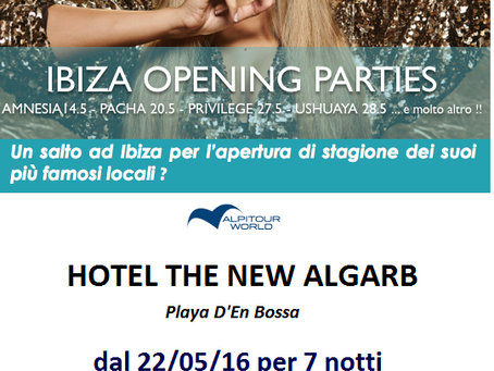 """OPENING PARTIES"" IBIZA"