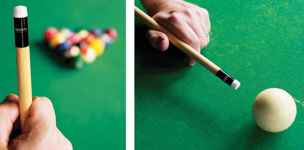 Guiness Guerilla Marketing Pool cue tip