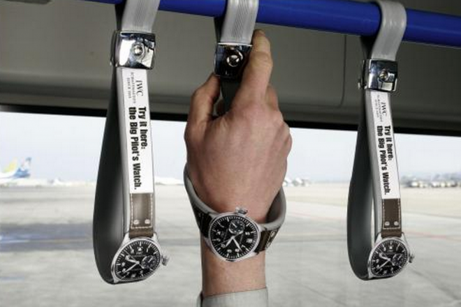 IWC Watches Guerilla Marketing Train strap handles