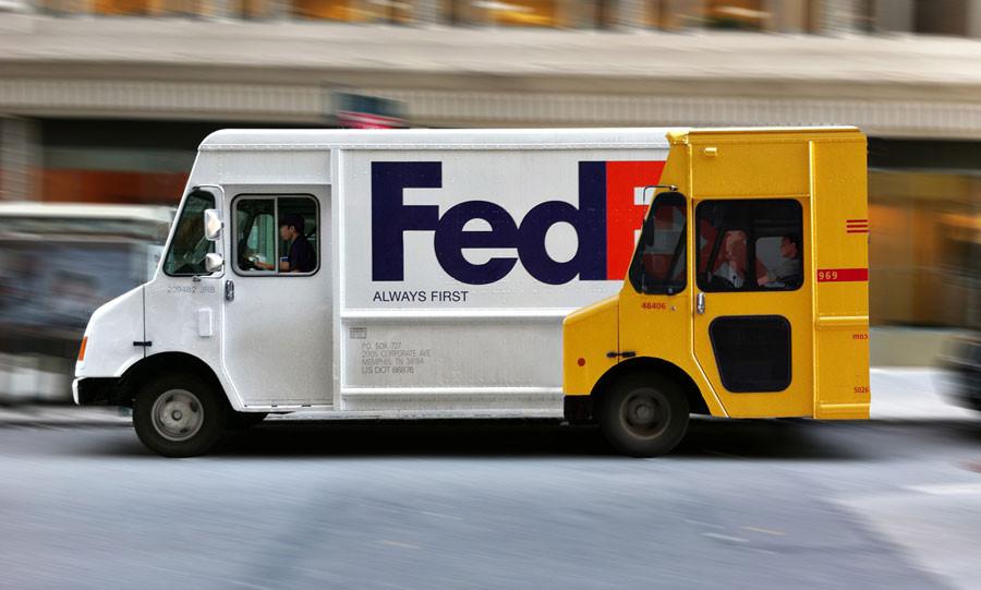Fedex Guerilla marketing DHL Truck