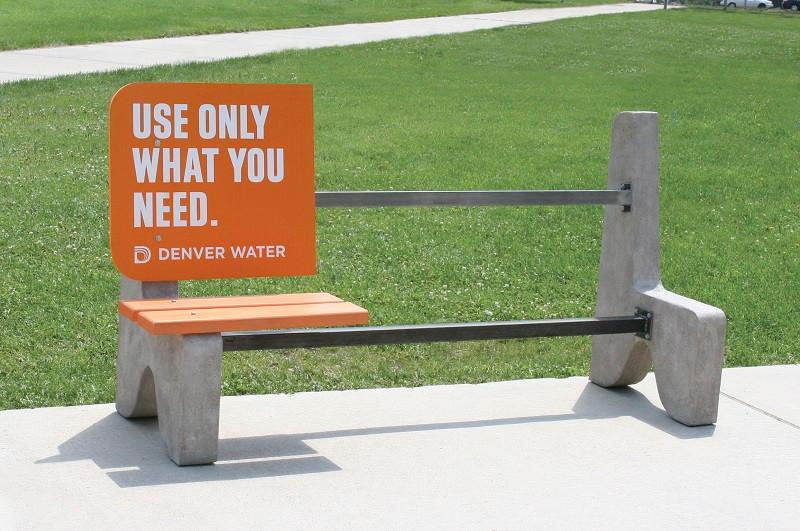 Denver Water Guerilla Marketing Bench