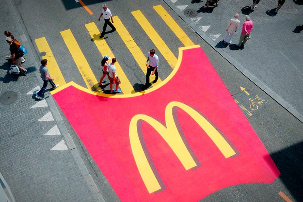 McDonalds Guerilla Marketing Zebra Crossing Fries
