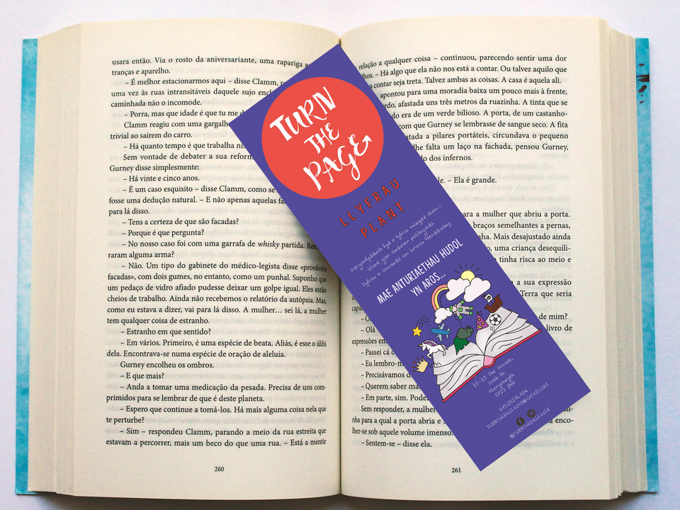 TURN THE PAGE BOOKMARK