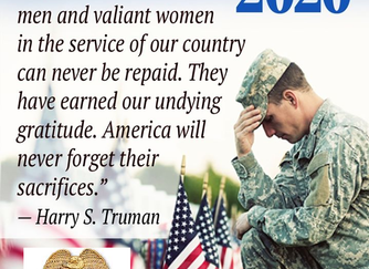 Memorial day 2020 - God Bless and Thank you for you for your sacrifice