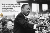 Let the spirit of Martin Luther King help bring peace to to our troubled land.