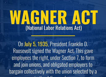 TheNational Labor Relations Act of 1935(also known as theWagner Act)