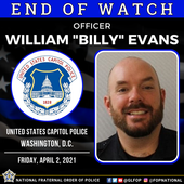 """Our Prayers go out to the Family & Friends of Capitol Police Officer William """"Billy"""" Evans"""
