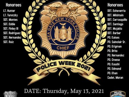 National Police Week Sea Gate PD Awards & Memorial Ceremony United Federation LEOS-PBA