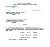 NLRB Rules In Favor of LEOSU Once Again in Paragon Systems Los Angeles NLRB Case