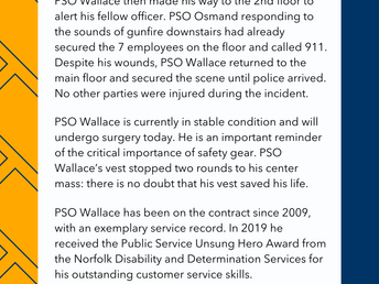 Paragon Systems PSO Wallace - Active Shooter Event 2-8-21 You are in Our Prayers