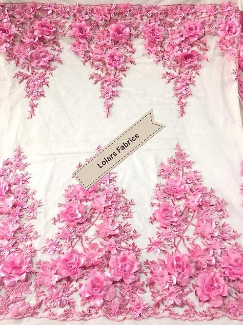 Baby Pink Summer Petal Bloom Tulle