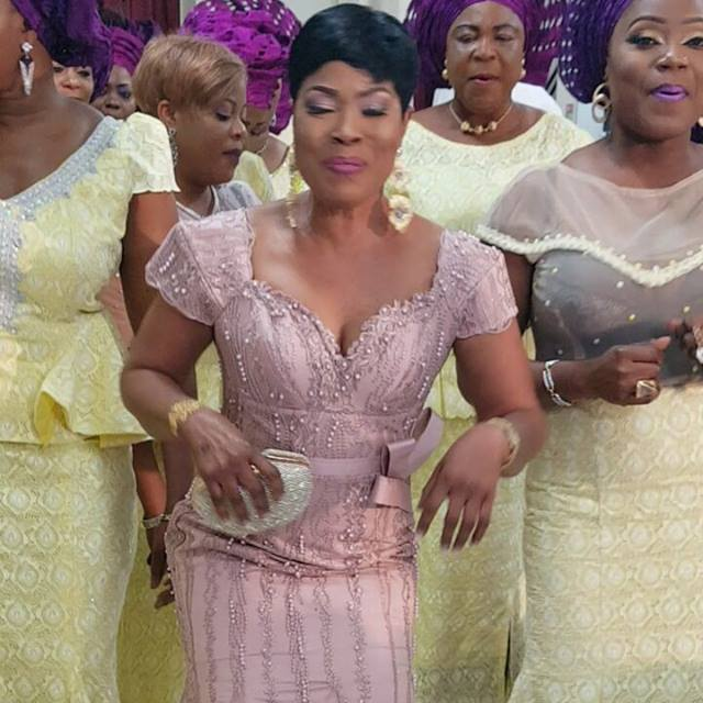 When your client is thankful to God for gift of life and blessings for the past 50years. That praise was deep. She stunned in our lovely beaded and stoned lilac tulle lace. Thanks for trusting Lolars Fabrics. Wishing you many more fulfilling, joyful,