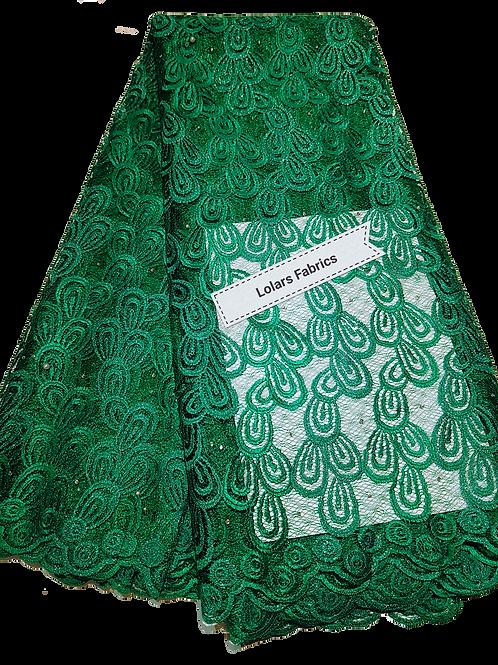 Pretty Green Net Lace