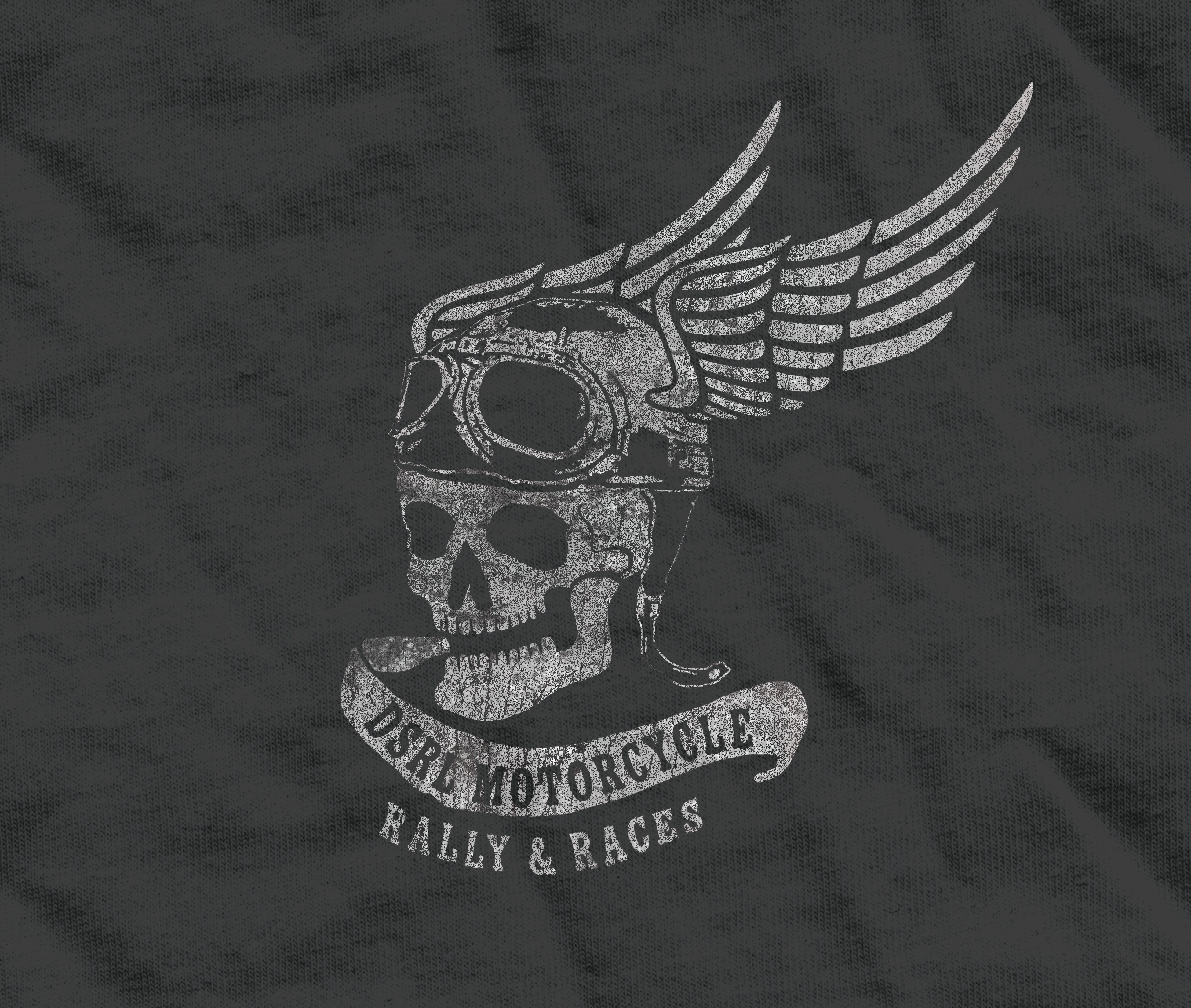 SKULL AND WING