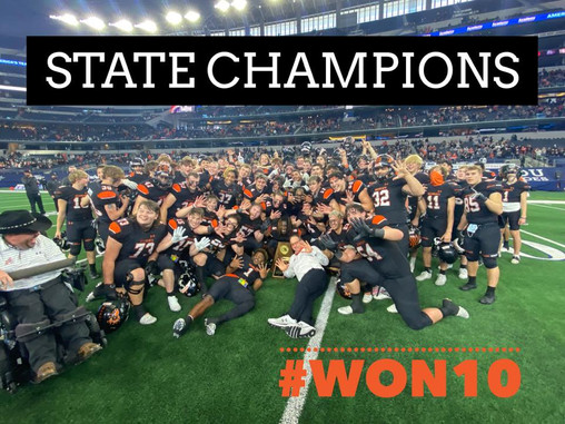 ALEDO WINS! 10th STATE TITLE! MAKING HISTORY!