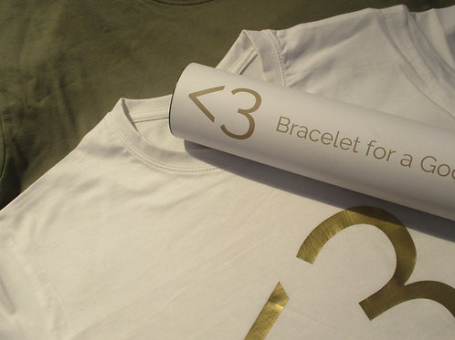 T-Shirt (white/gold)