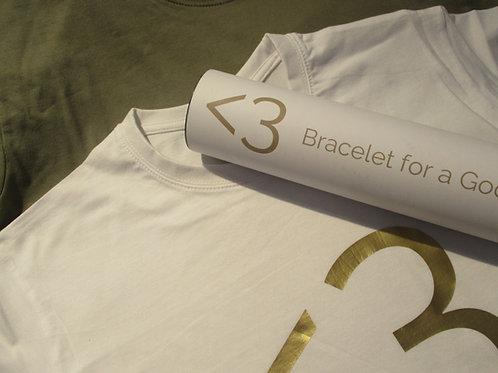 T-Shirt (white/gold)