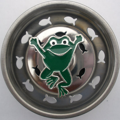 """Jumping Frog"" Sink Stopper"