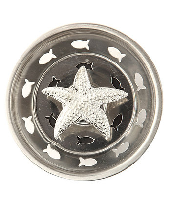 """Pewter Star Fish"" Sink Stopper"