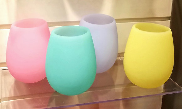 "Silicone ""Stemless"" Wine Tumblers ""Gift Set"""