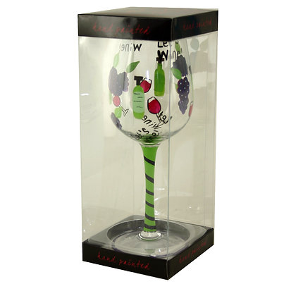 """""""Let's Wine"""" Glass"""