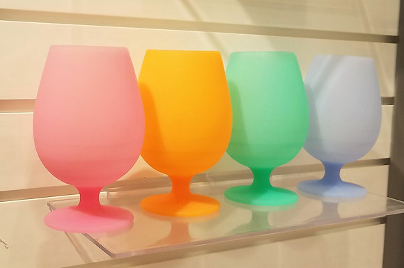 """Silicone """"Stemmed"""" Wine Tumblers """"Gift Set"""""""