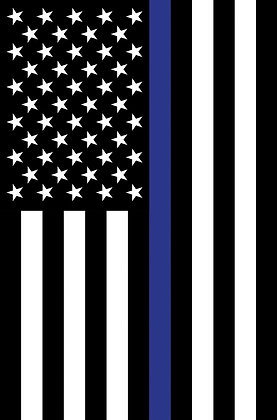 """Thin Blue Line"" Garden Flag"