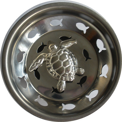 """Pewter Sea Turtle"" Sink Stopper"