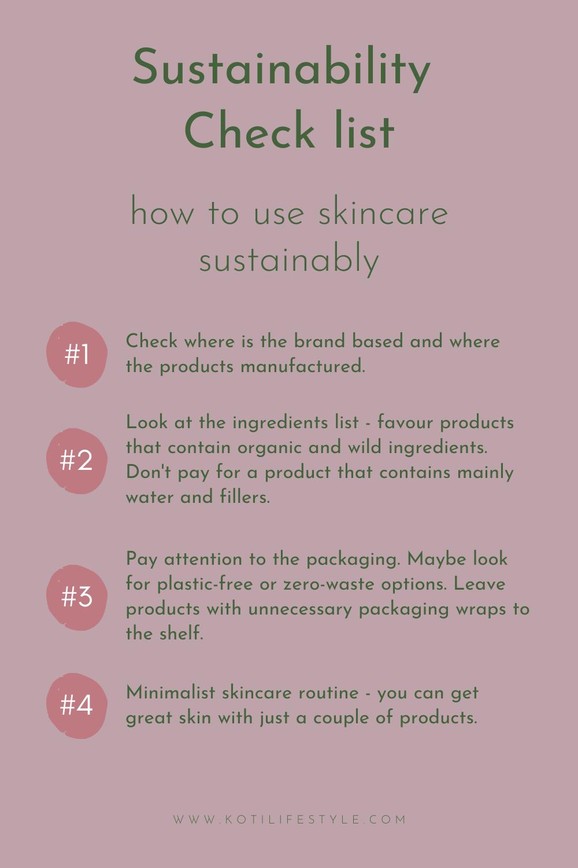 Koti Lifestyle | Sustainability check list for skincare