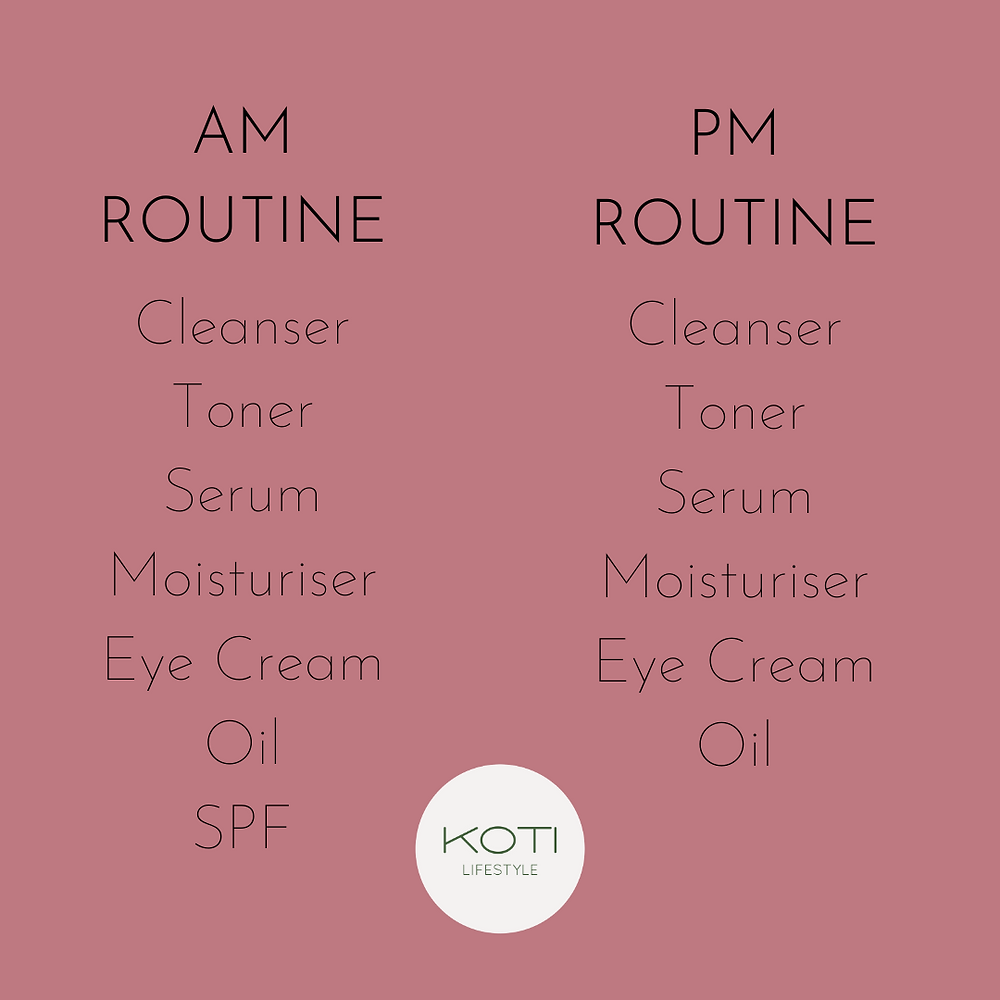 Koti Lifestyle | The correct skincare order for morning and evening skincare routine