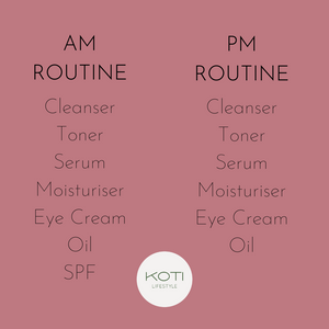 Koti Lifestyle | The correct order for morning and evening skincare routine