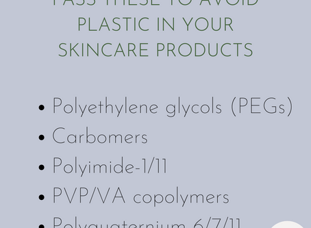 Plastic in Skincare Products