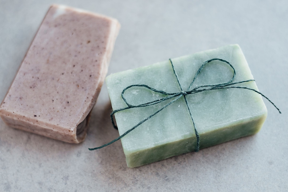 Two soap bars
