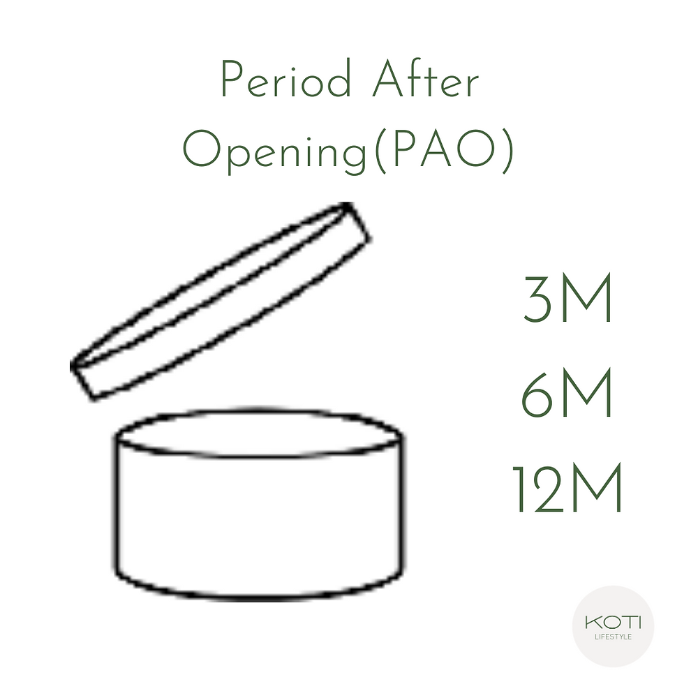 Koti Lifestyle | PAO (period after opening) label, skincare expiry date