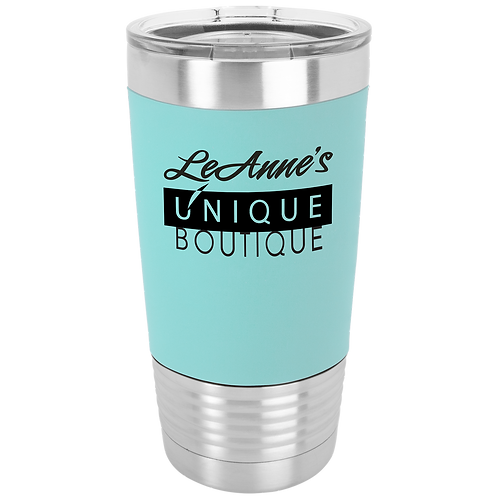 20 OUNCE TUMBLER WITH ENGRAVABLE SILICONE SLEEVE