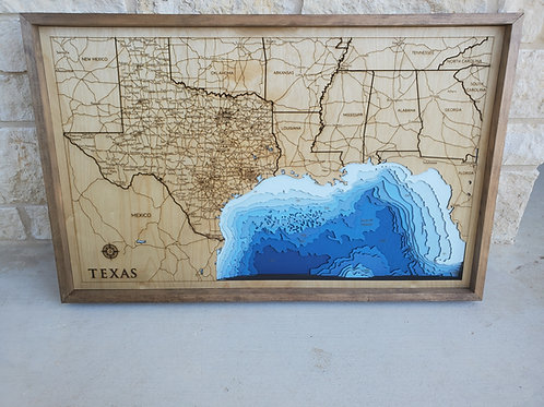Texas and Gulf of Mexico Map