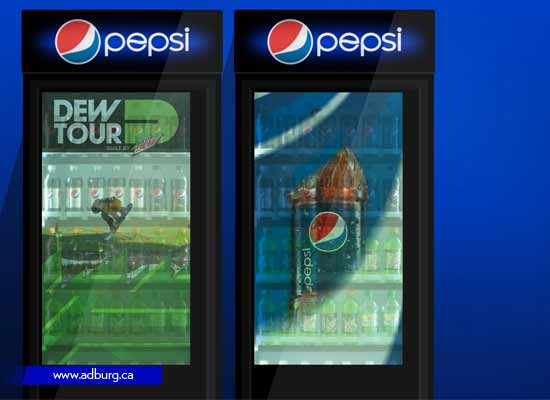 Fridge Door with Transparent LCD