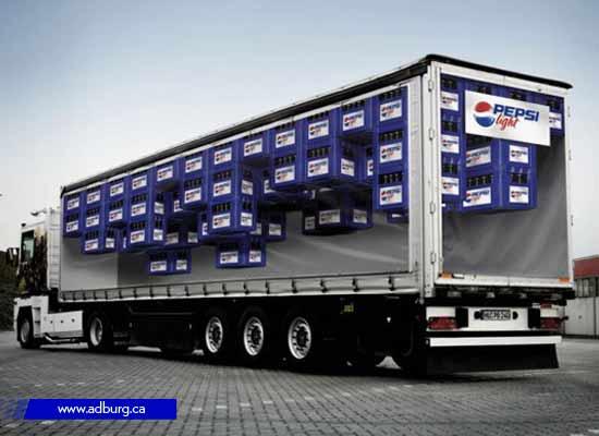 Optical illusion Truck