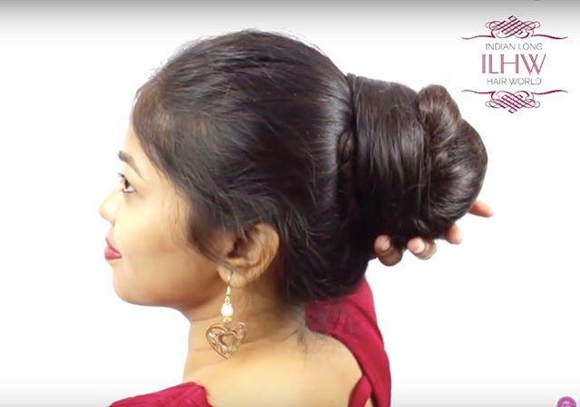 How To Make Elegant Khopa Hair Bun For Knee Length Hairilhw