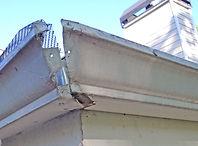 Repair damaged gutter