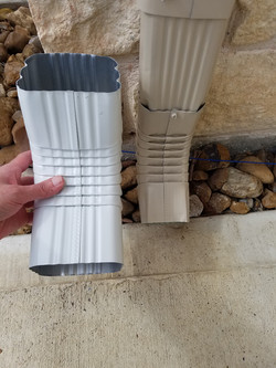 Downspout Size difference