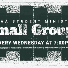 Student Ministry Small Groups