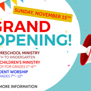 Re-Opening Student and Children's Ministry