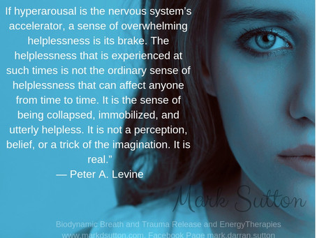 Helplessness is the nervous system's brake
