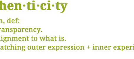 Being Authentic: An Anecdote