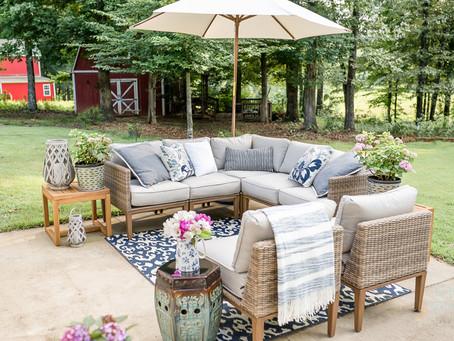 Muebles de patio para disfrutar al aire libre